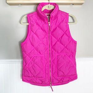 J.Crew Pink Down Excursion Vest Size-XS